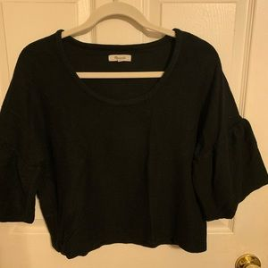 Knit Madewell Blouse with 3/4 Bell Sleeve - Medium